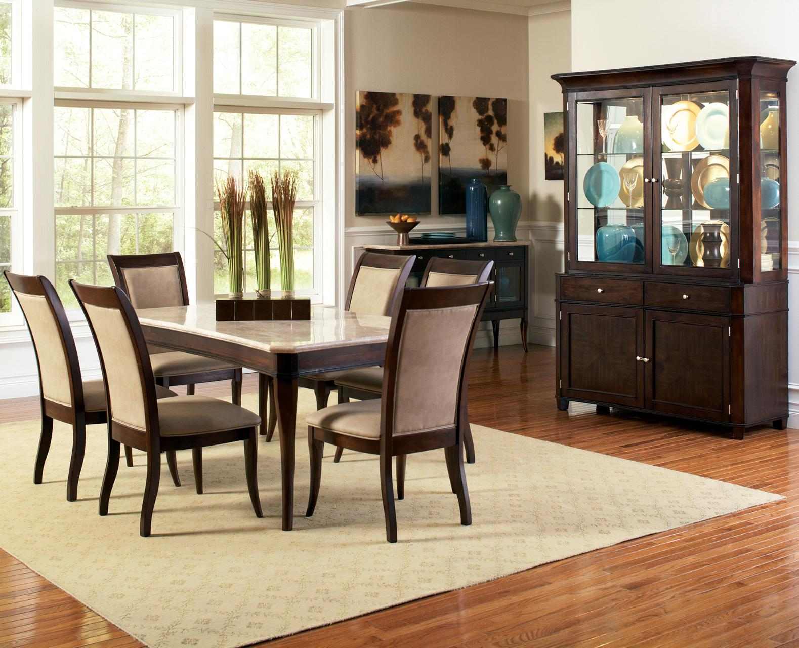 Steve silver marseille casual dining room group wayside for Casual dining room chairs