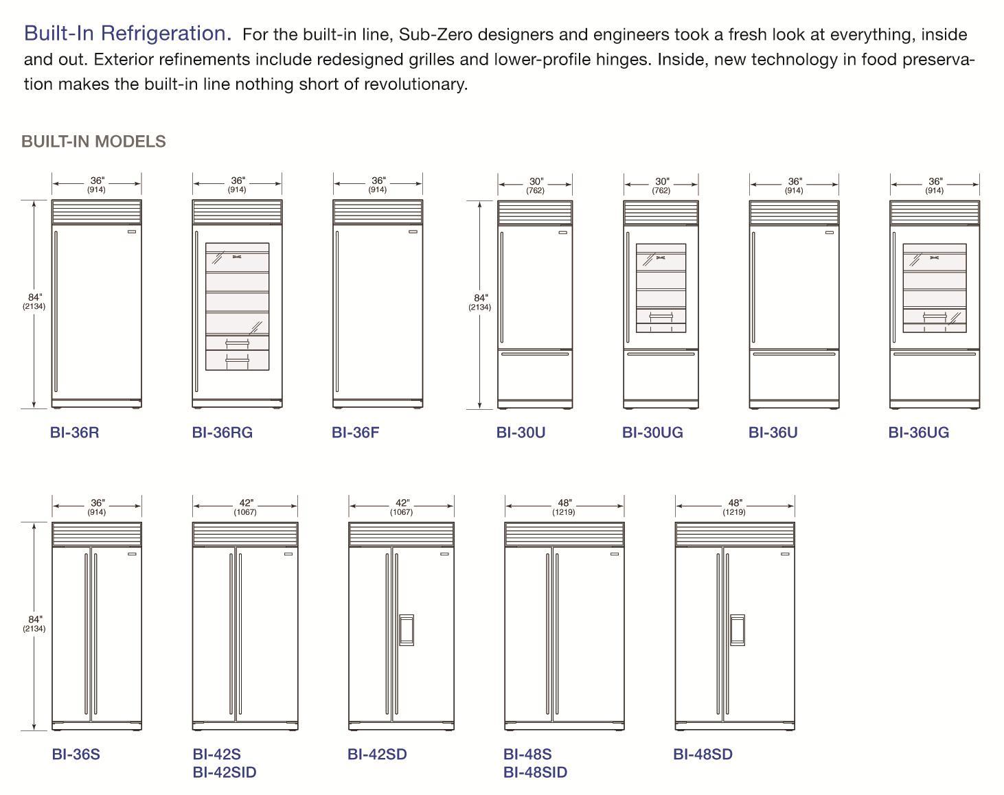 Sub Zero Refrigerator Sizes Zef Jam