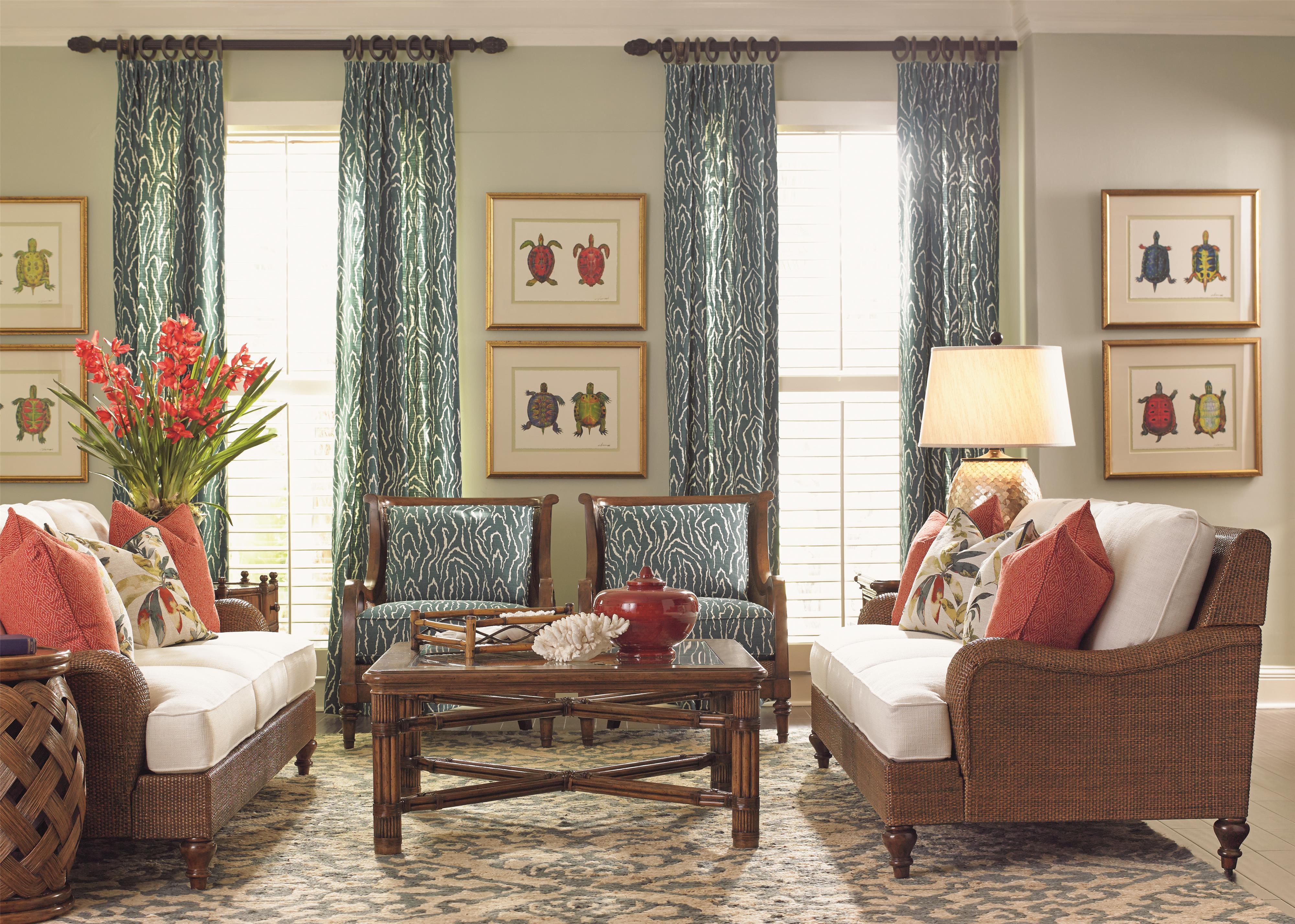 tommy bahama home bali hai stationary living room group jacksonville furniture mart. Black Bedroom Furniture Sets. Home Design Ideas