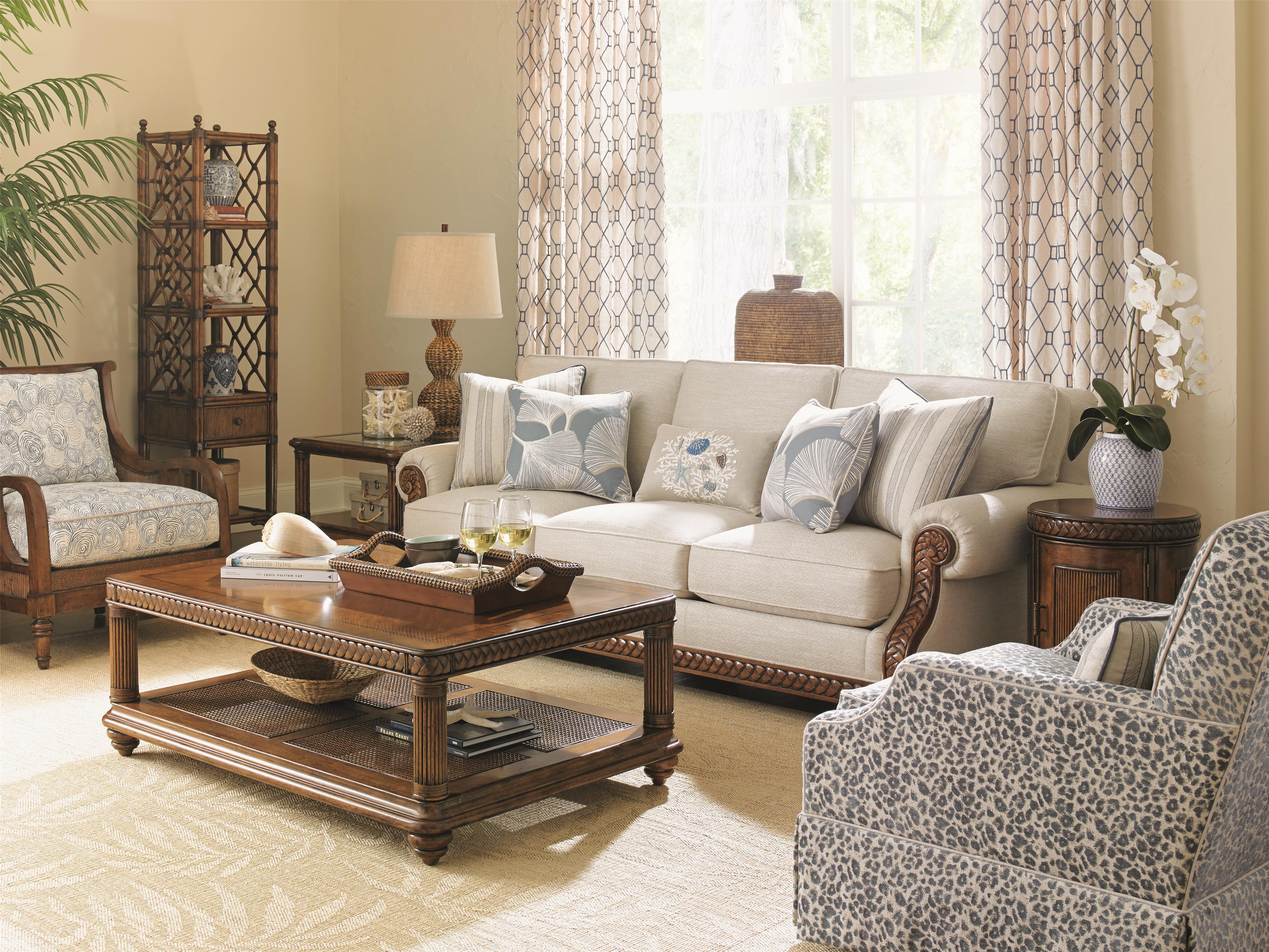 tommy bahama home bali hai stationary living room group hudson 39 s furniture stationary living. Black Bedroom Furniture Sets. Home Design Ideas