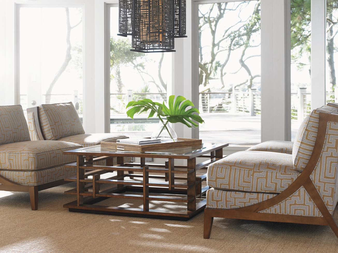 Tommy bahama home island fusion stationary living room for Island living room furniture