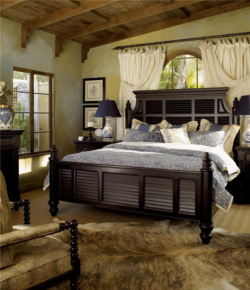 Kingstown leather by tommy bahama home baer 39 s for Plantation style bed