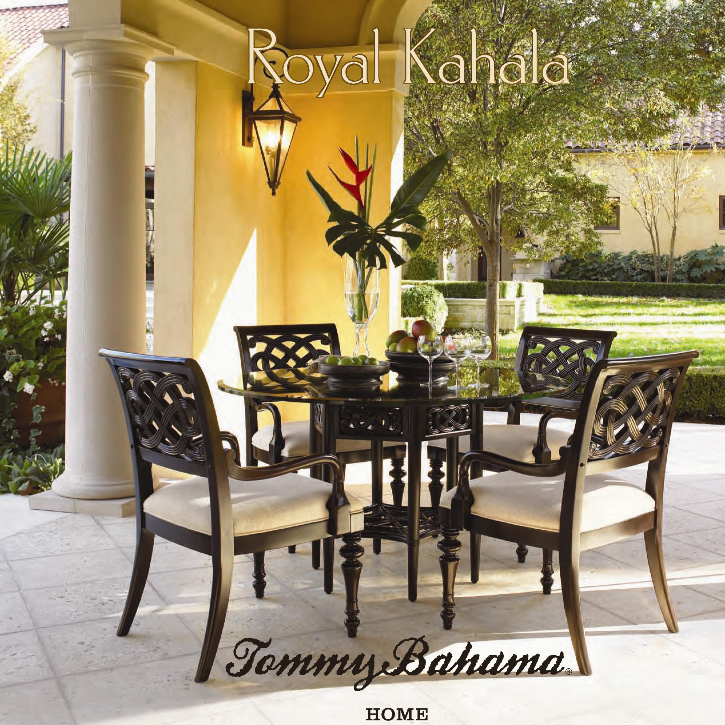 Tommy Bahama Home Royal Kahala Rattan Leather Mystic