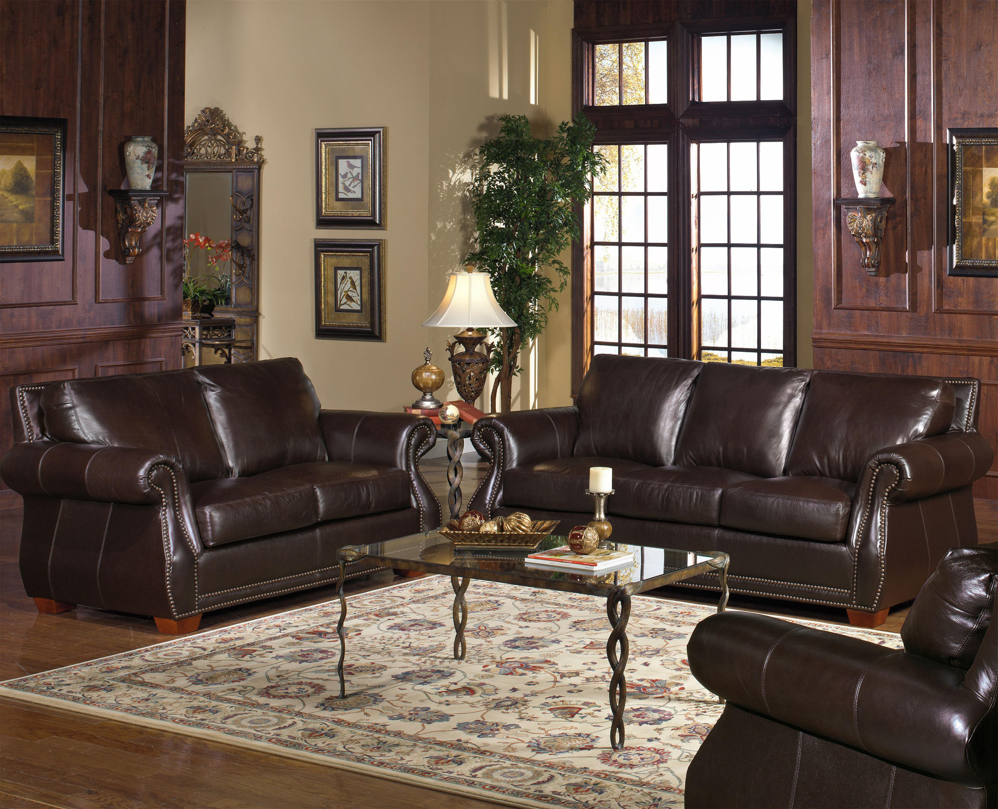 Usa Premium Leather 5750 Stationary Living Room Group Olinde 39 S Furniture Upholstery Group