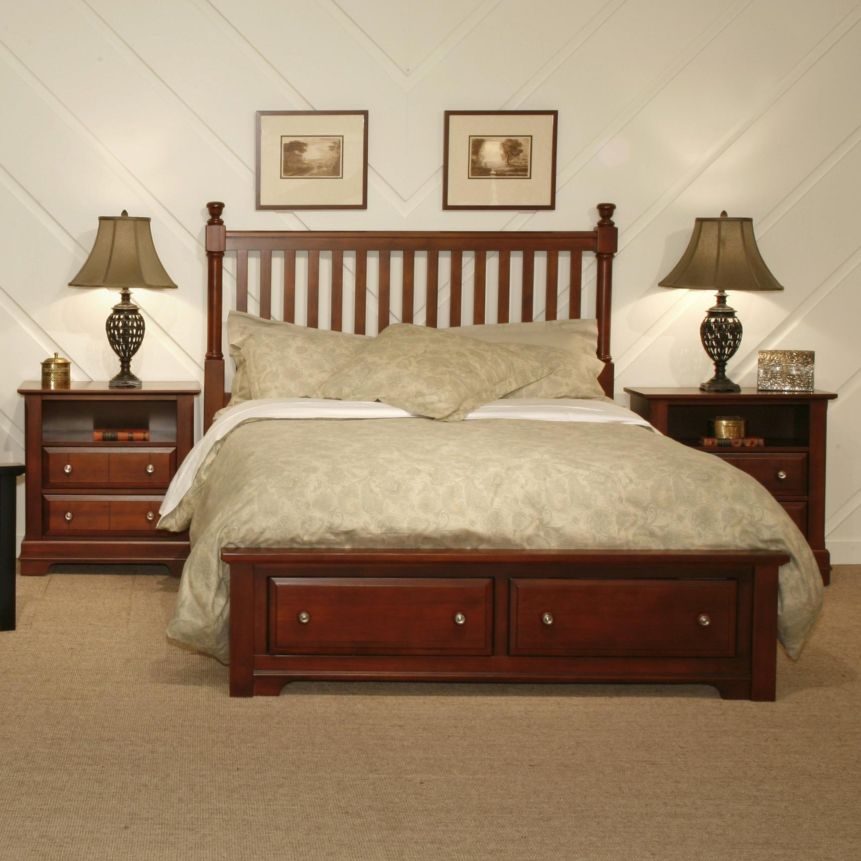 Vaughan bassett cottage queen bedroom group dunk for Bedroom furniture groups