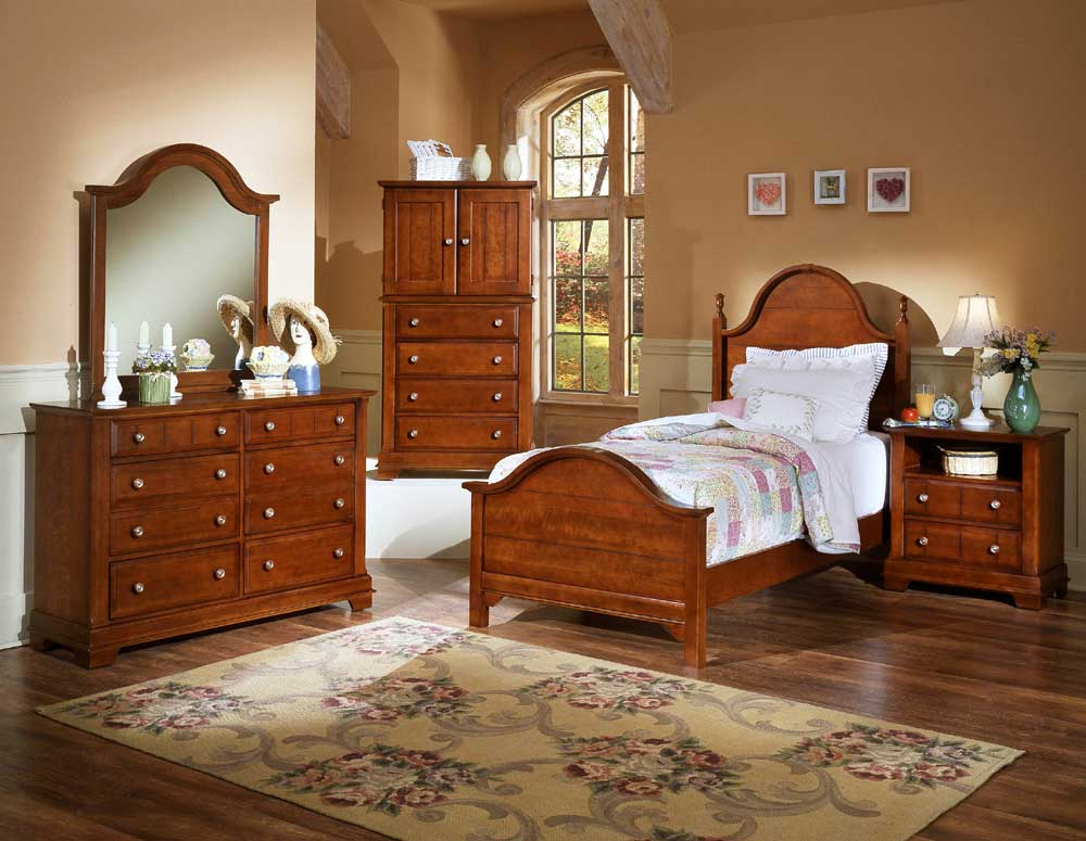Vaughan Bassett Cottage Full Bedroom Group Knight Furniture Mattress Bedroom Groups