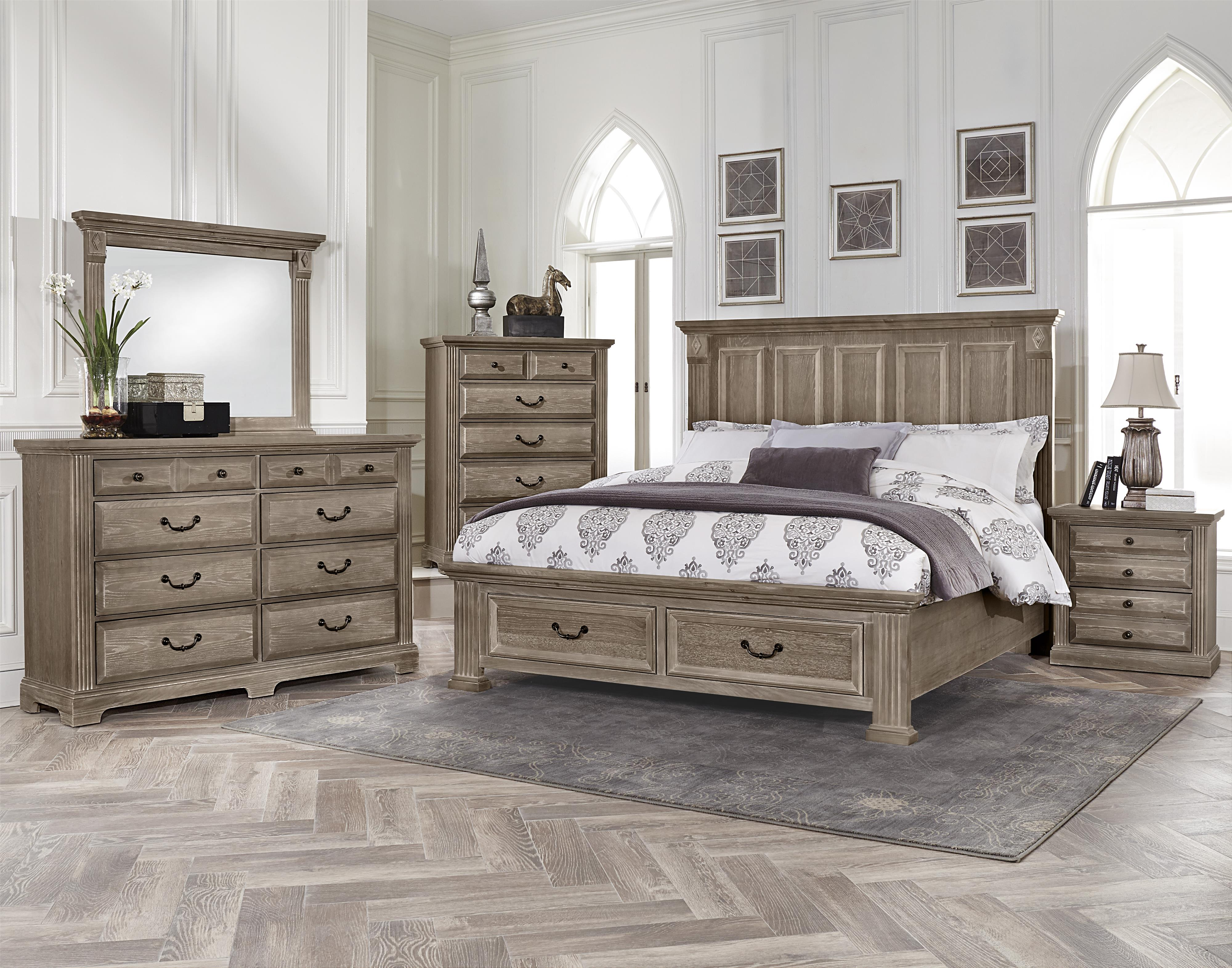 Vaughan Bassett Woodlands King Bedroom Group Olinde 39 S Furniture Bedroom Groups