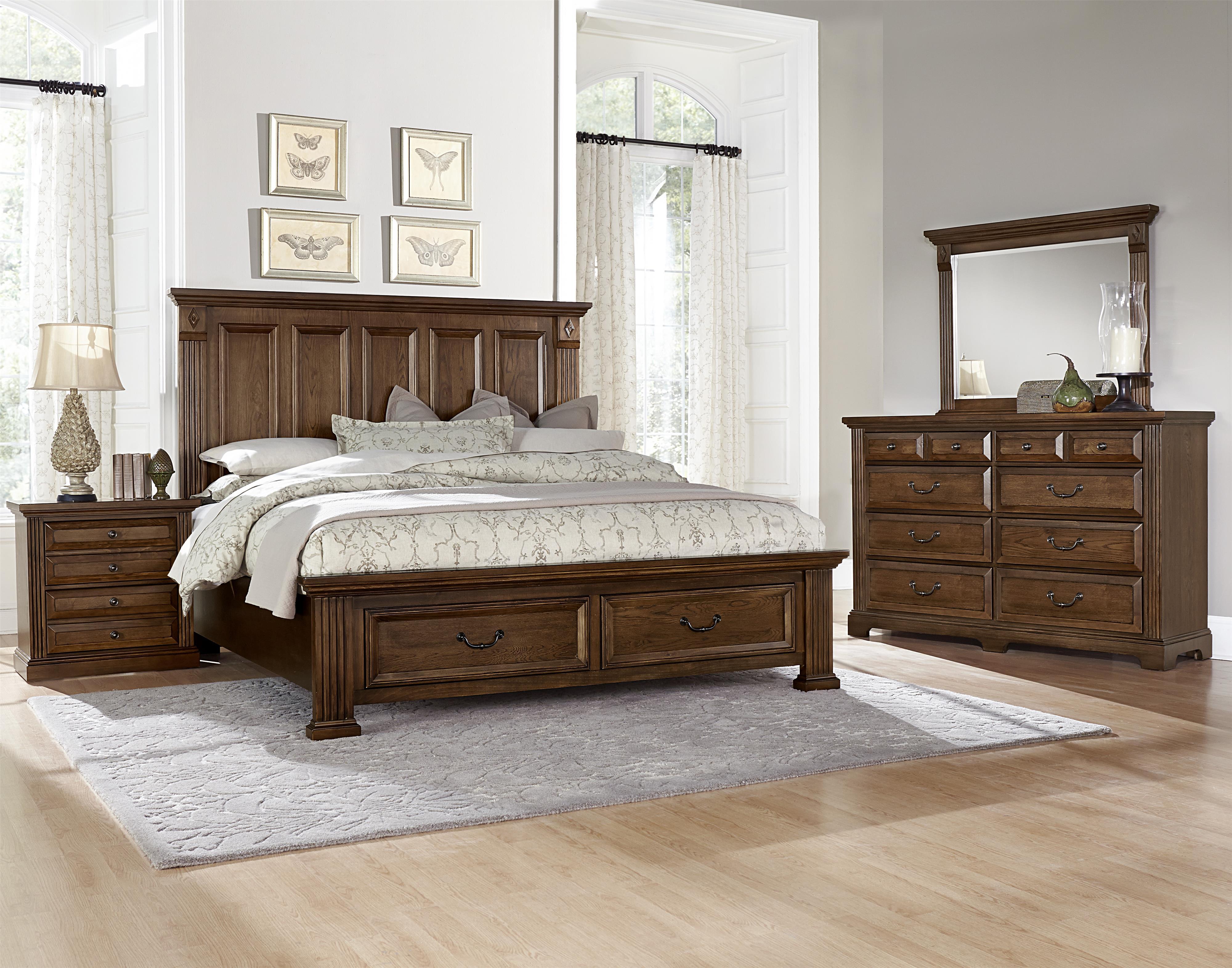 Vaughan Bassett Woodlands King Bedroom Group Olinde 39 S Furniture Bedroom Groups