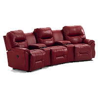 red leather sectional
