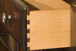 Closeup of Dovetail Joinery