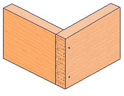 Example of a butt joint.