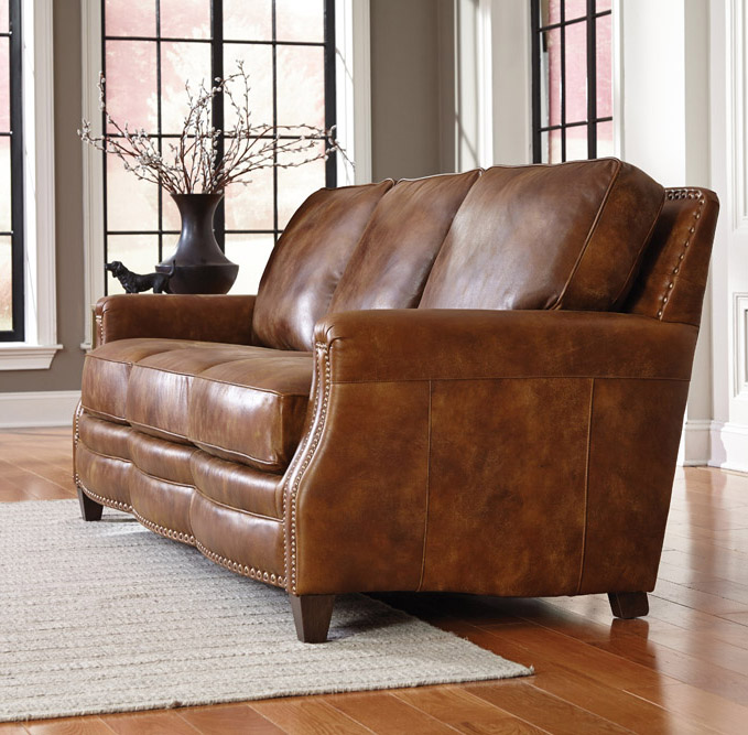 Charmant Top Grain Leather Sofa