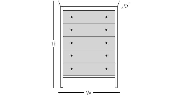 Dimensions - Drawer Chest