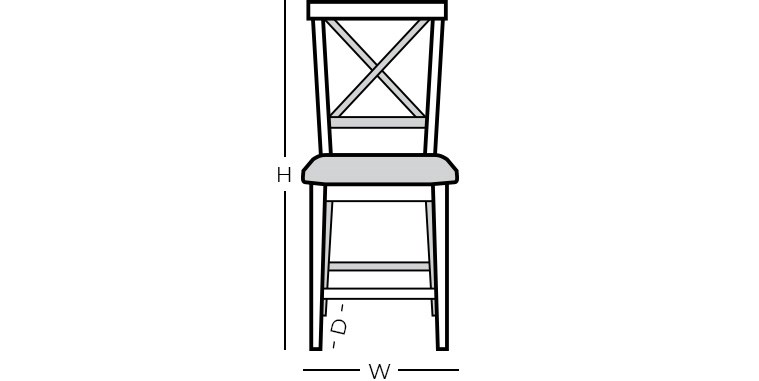 Dimensions - Bar Stool with Back