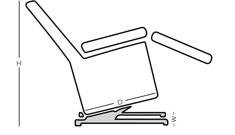 Dimensions - Lift Recliner