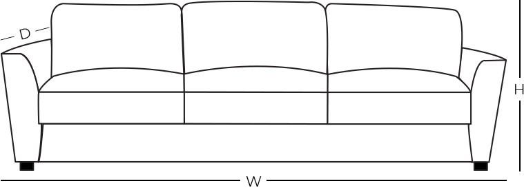 Dimensions - Reclining Sofa