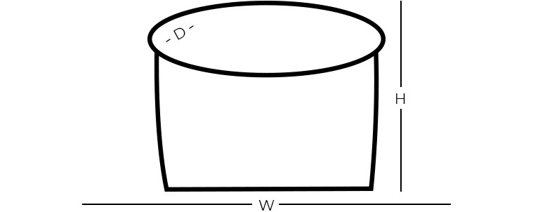 Dimensions - Round Ottoman/Pouf