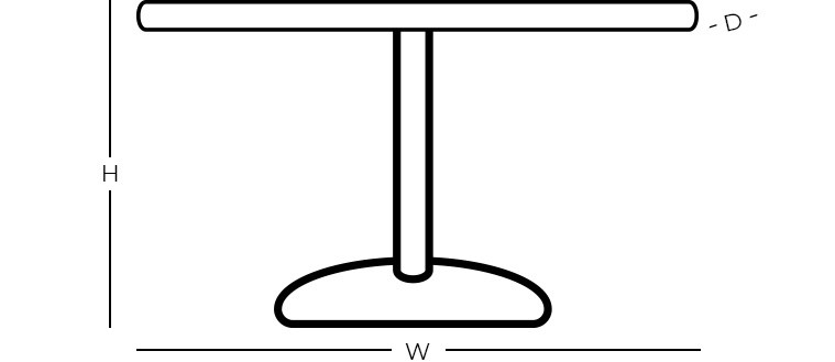 Dimensions - Round Dining Table