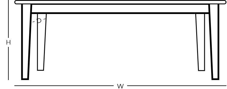 Dimensions - Table Desk