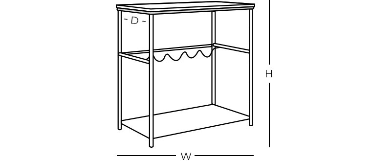 Dimensions - Bar Cart