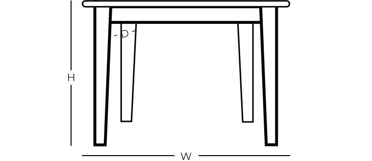 Dimensions - Square Coffee Table
