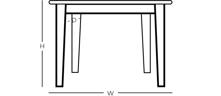 Dimensions - Square Dining Table