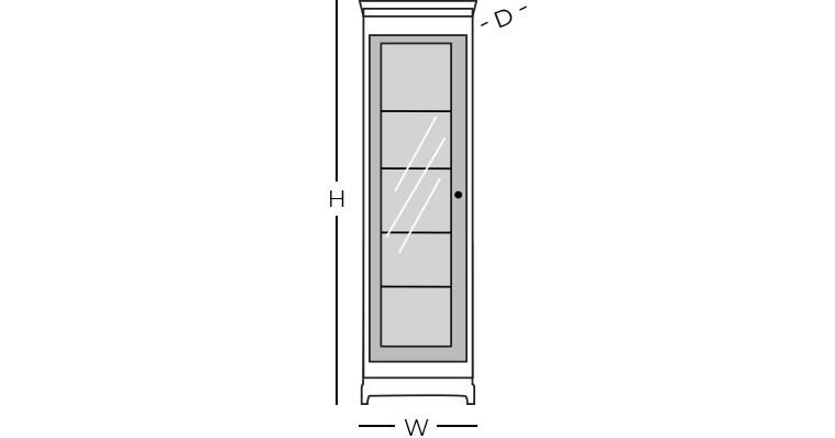Dimensions - Curio Cabinet
