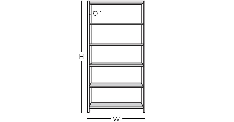 Dimensions - Bookcase