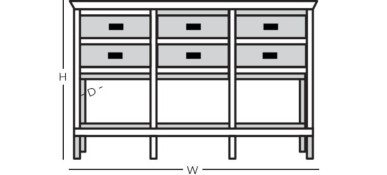 Dimensions - Console/Sofa Table