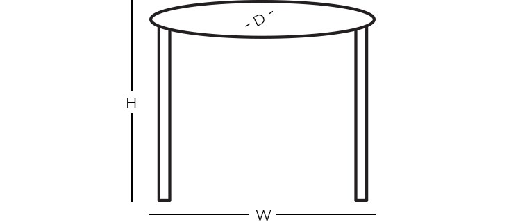 Dimensions - Oval End Table
