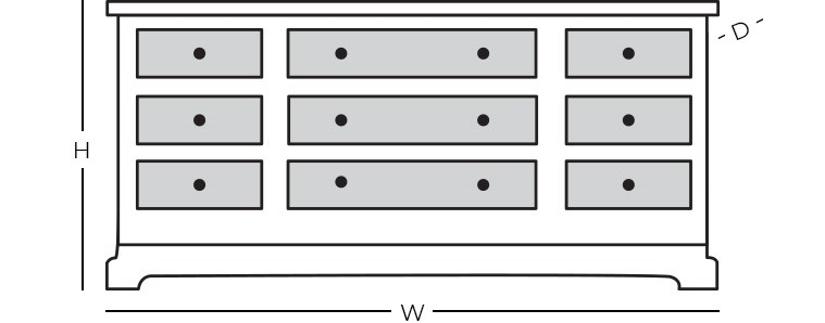 Dimensions - Dresser