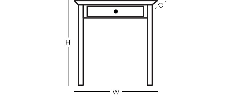 Dimensions - Square End Table
