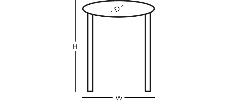 Dimensions - Round End Table