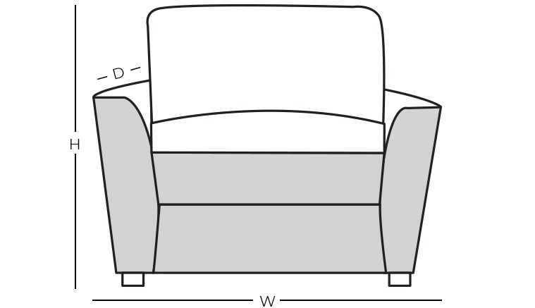 Dimensions - Upholstered Chair with Arms