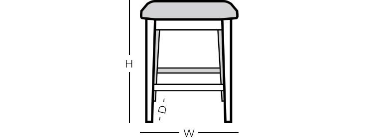 Dimensions - Backless Bar Stool