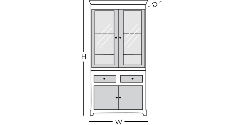 Dimensions - China Cabinet