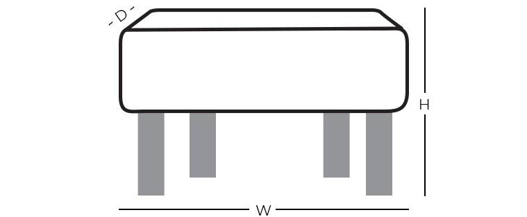 Dimensions - Square Ottoman