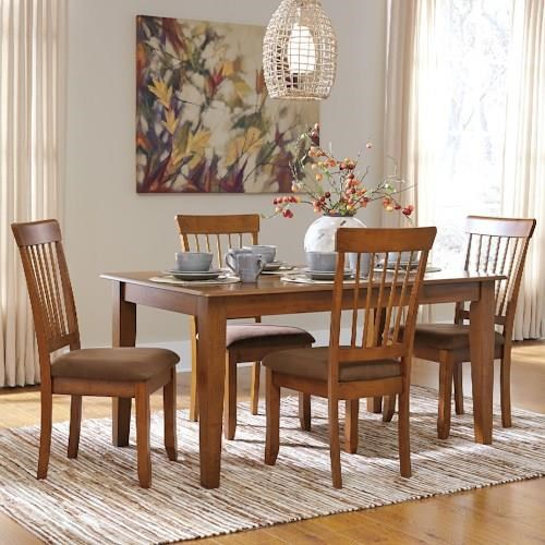 Berringer 5 Piece 36x60 Table U0026 Chair Set By Ashley Furniture SKU:  D199 25+4x01