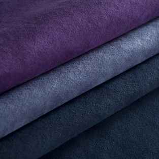 purple and blue fabrics