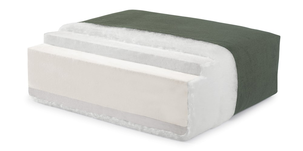 High Density Foam Cushion with Fiber Wrap