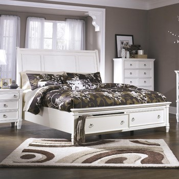 Footboard Storage Bed