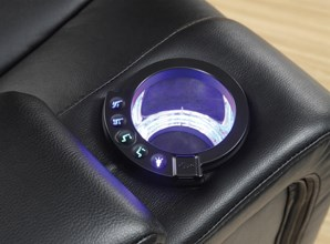 Recliner with Light-Up Cupholders