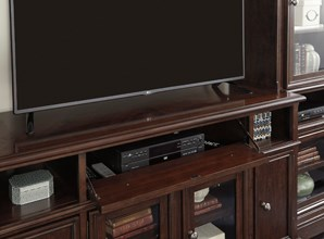 Media Wall Unit with Drop-Front Drawer