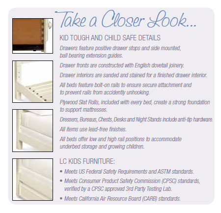 Take a Closer Look at Kid Tough and Child Safe Details.