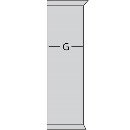 bookcase side measuring diagram
