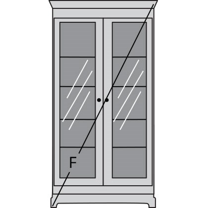 bookcase front measuring diagram