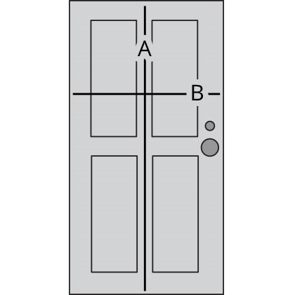 door measuring diagram