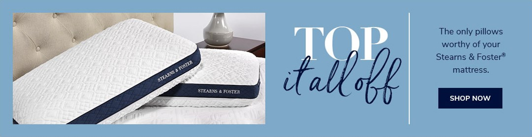 Top It All Off with Stearns and Foster Pillows