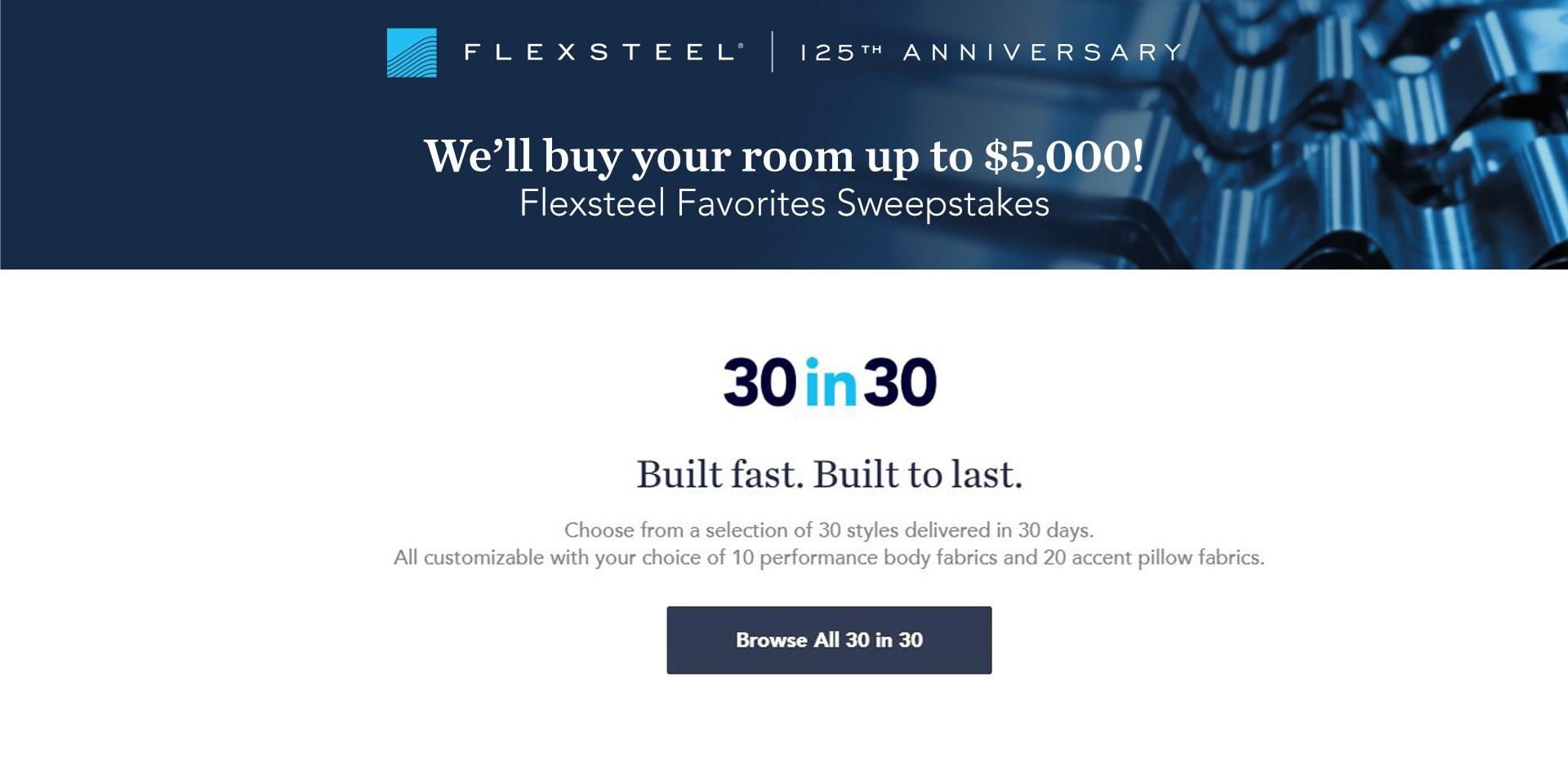 Flexsteel Sweepstakes