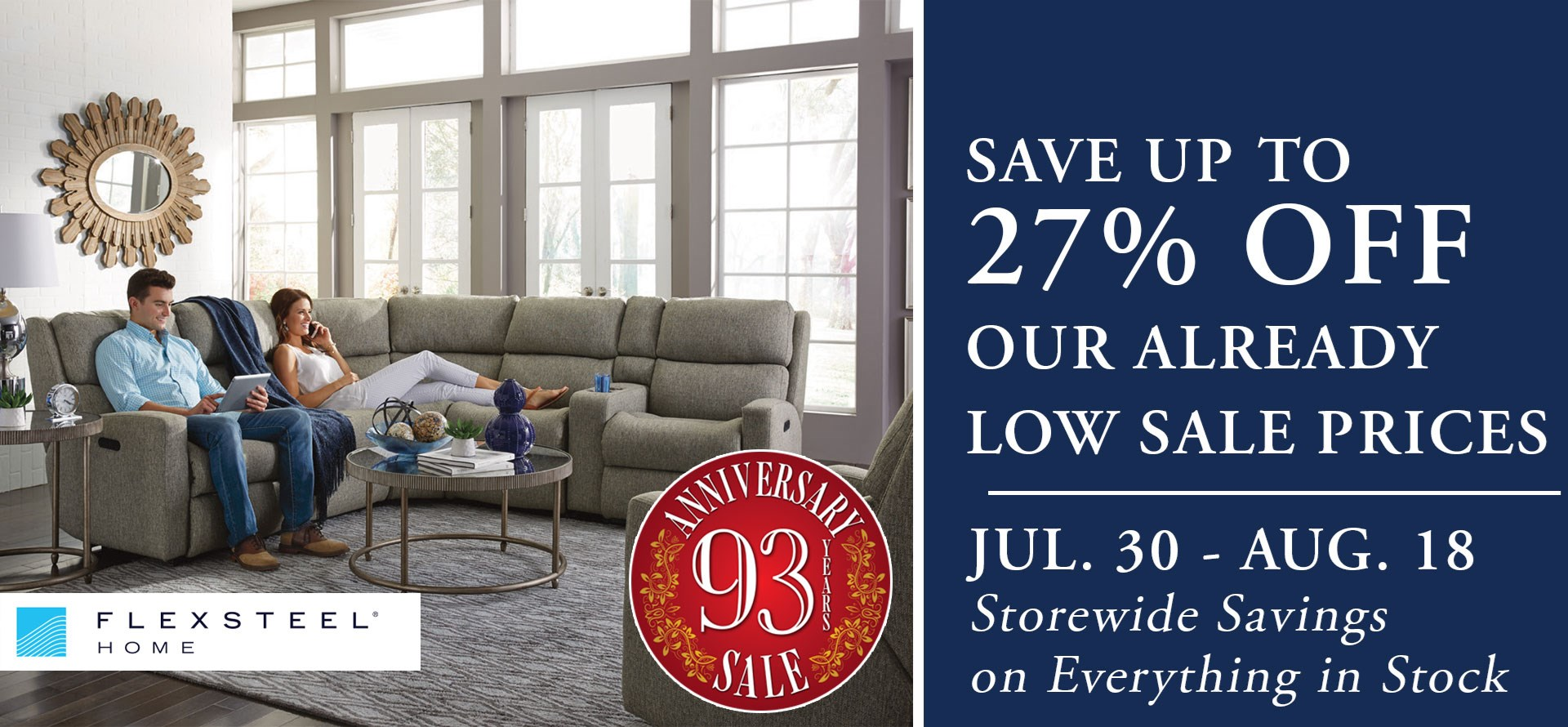 Anniversary Sale at Mueller Furniture